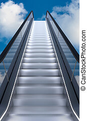 Escalator to the sky 3D rendering