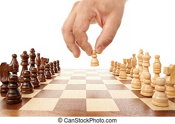 Chess game with hand