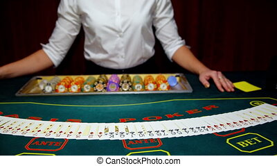 Casinos, the dealer have the cards.