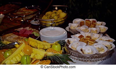 buffet meals are on the table
