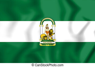 Flag_of_Andalucía - 3D Flag of Andalusia, Spain. 3D...