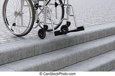 Zeichnung von front rollstuhl treppe problems von - Rampe rollstuhl treppe ...