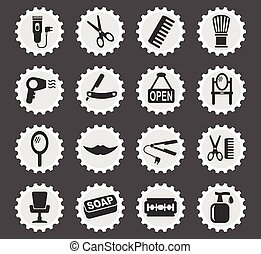 barbershop icon set - barbershop web icons for user...