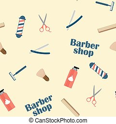 Barbershoop Commodities On The Light Background. Among them:...