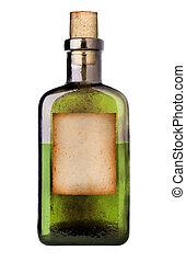 Old fashioned medicine bottle. - Old fashioned drug bottle...