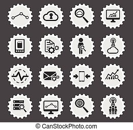 Data analytic simply icons - Data analytic simply symbols...