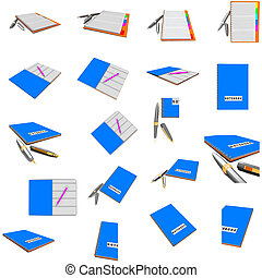 Buisnes concept - Notebook and pen
