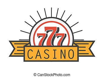 Casino 777 advertising banner isolated on white background....