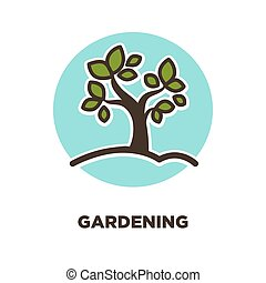 Gardening as leisure activity and useful hobby promotion...