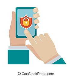 Security program for modern devices vector illustration....