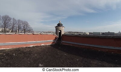 Lookout tower in the Peter-Paul Fortress.