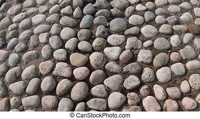 Bridge, the road of cobblestones.
