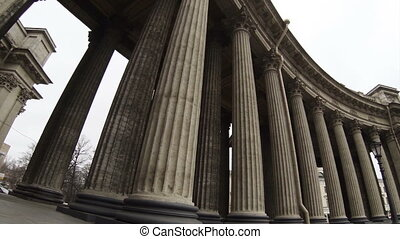 Columns of the Kazan Cathedral in St. Petersburg.