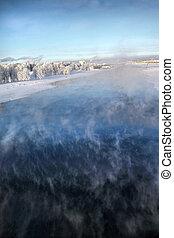 agua, congelación, vapor