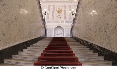 The main staircase in the Mikhailovsky Castle. -...