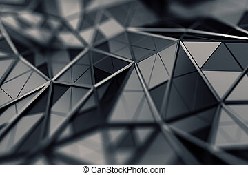 Abstract 3D Rendering of Polygonal Background. - Abstract 3d...