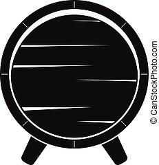 Barrel on legs icon, simple style - Barrel on legs icon....
