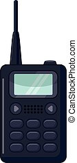 Portable handheld radio icon, cartoon style - Portable...