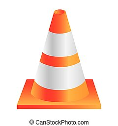 cone traffic sign icon, vector illustration design