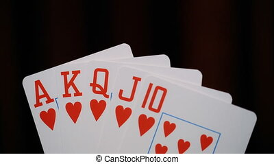 poker, Royal flush of hearts