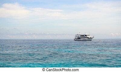 Dive boat at anchor - Dive boat near Ko Miang island,...
