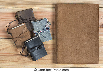 vintage craft Handmade leather book cover