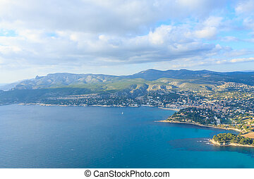 Cassis view from Cape Canaille top, France. Beautiful french...
