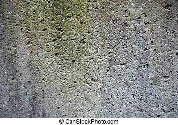 Spotted Discoloured Cement - Close up of splatter on a...