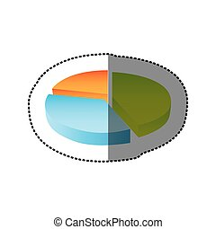 color circular statistic graph icon