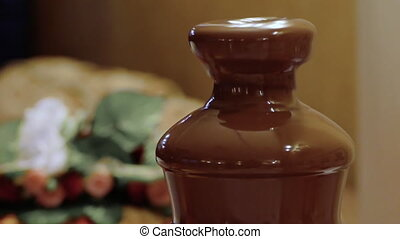Chocolate Fountain,Melted Dark Chocolate Fountain,Melted...