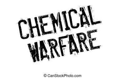 Chemical Warfare rubber stamp. Grunge design with dust...