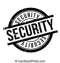 Security rubber stamp. Grunge design with dust scratches....