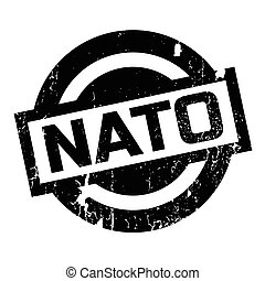 Nato rubber stamp. Grunge design with dust scratches....
