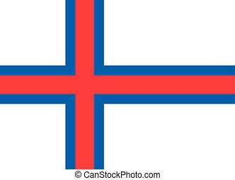 Official vector flag of Faroe Islands .