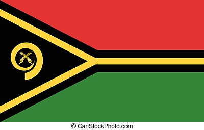 Official vector flag of Republic of Vanuatu .