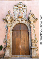 Ornated door seen in Erice Sicily - An ornated old door seen...