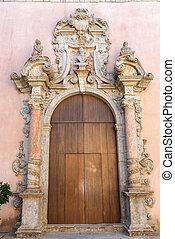 Ornated door seen in Erice Sicily - An ornated old door seen...