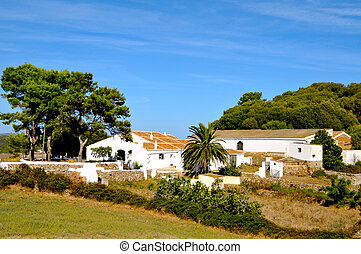 old farm in Menorca, Balearic Islands, Spain - view of an...