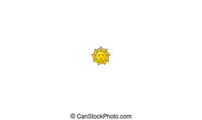 rotates sun isolated on white background