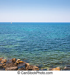 mediterranean sea coastline near Syracuse city - travel to...