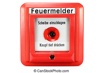 push-button fire alarm - German push-button fire alarm...