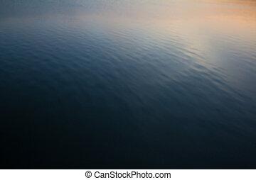 Vatten, avbild, bakgrund, hav, suddig