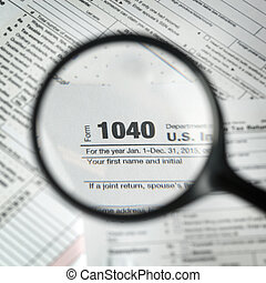 1040 tax form background