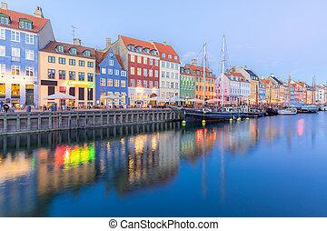 Copenhagen Nyhavn Denmark - Copenhagen Nyhavn, New port of...