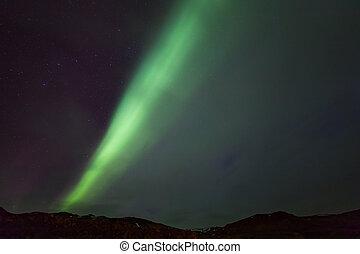 The Northern Light Aurora borealis at Kirkjufell West...