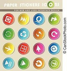 arrow icon set - arrow icons on color paper stickers for...