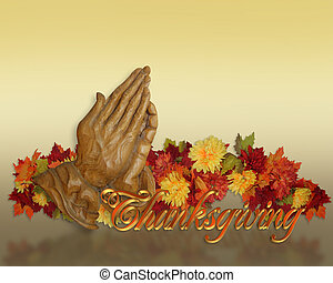 Thanksgiving Praying hands image and illustration...
