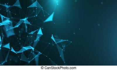 Background animated plexus
