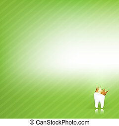 Dental Vector Background With Tooth - Dental Green...