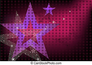 Disco Bright Background With Stars - Disco And New Years...